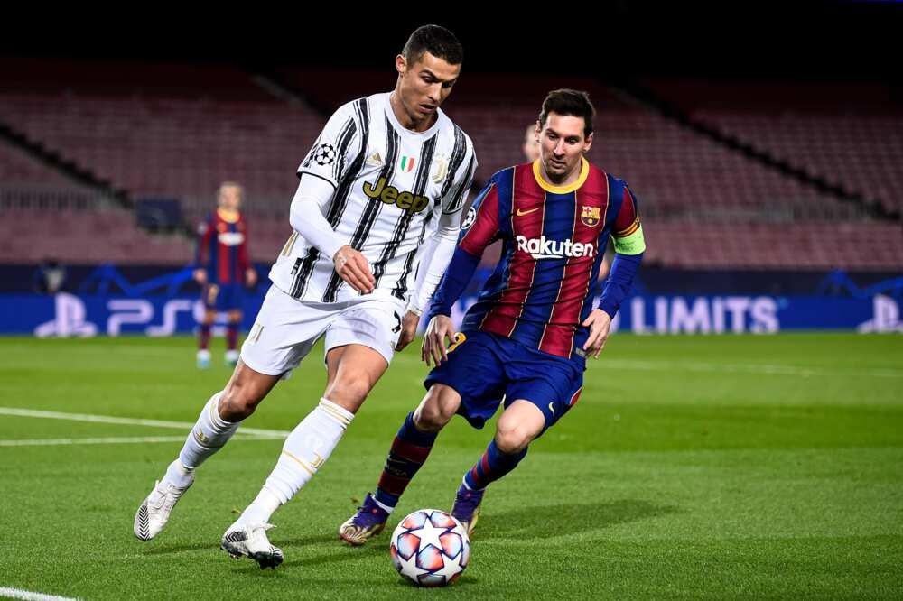 Lionel Messi and Ronaldo