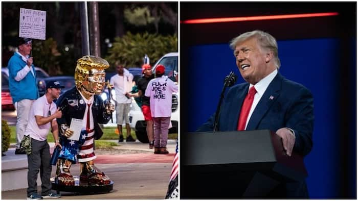 Trump ain't going anywhere: Republicans praise former US president, honour him with large gold-coloured statue