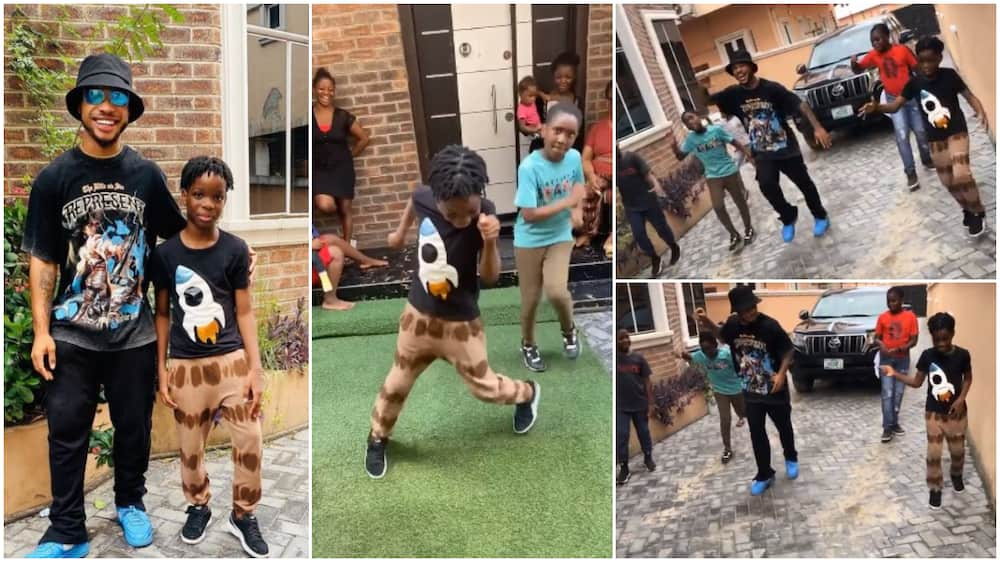 Wizkid's son Tife 'scatters' dance floor as Poco Lee teaches him in viral video