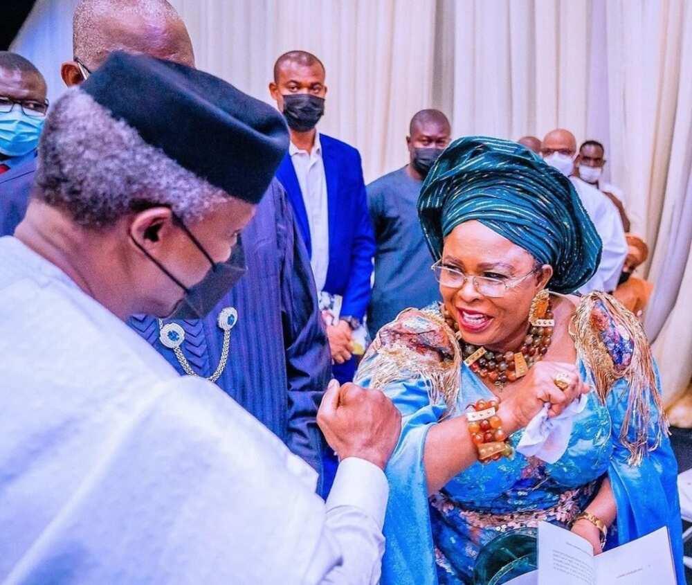 Hotunan Osinbajo, Jonathan da jiga-jigan da suka halarci bikin diyar tsohon gwamna