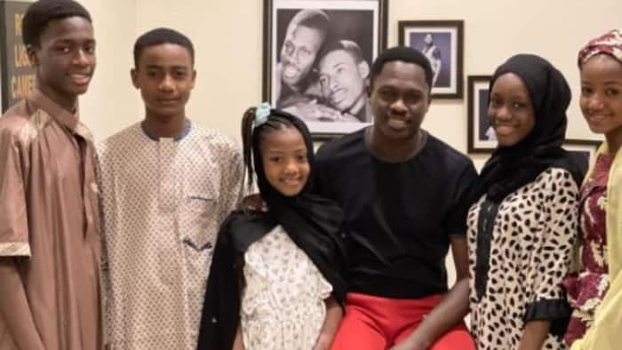Kannywood actor Ali Nuhu shows off his cute children in beautiful family photo, causes stir