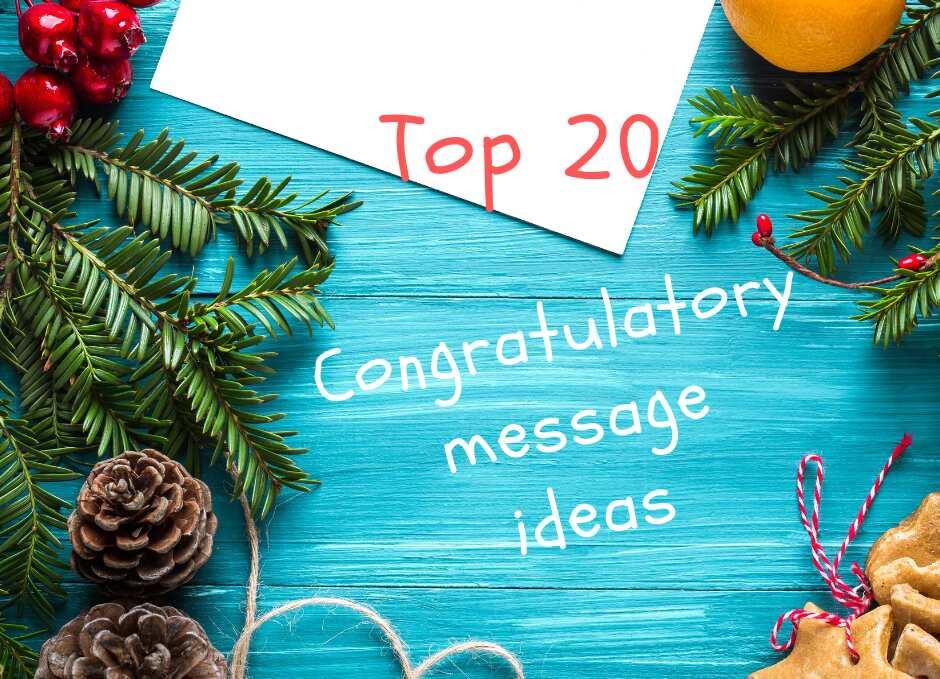 Top 20 congratulatory message ideas