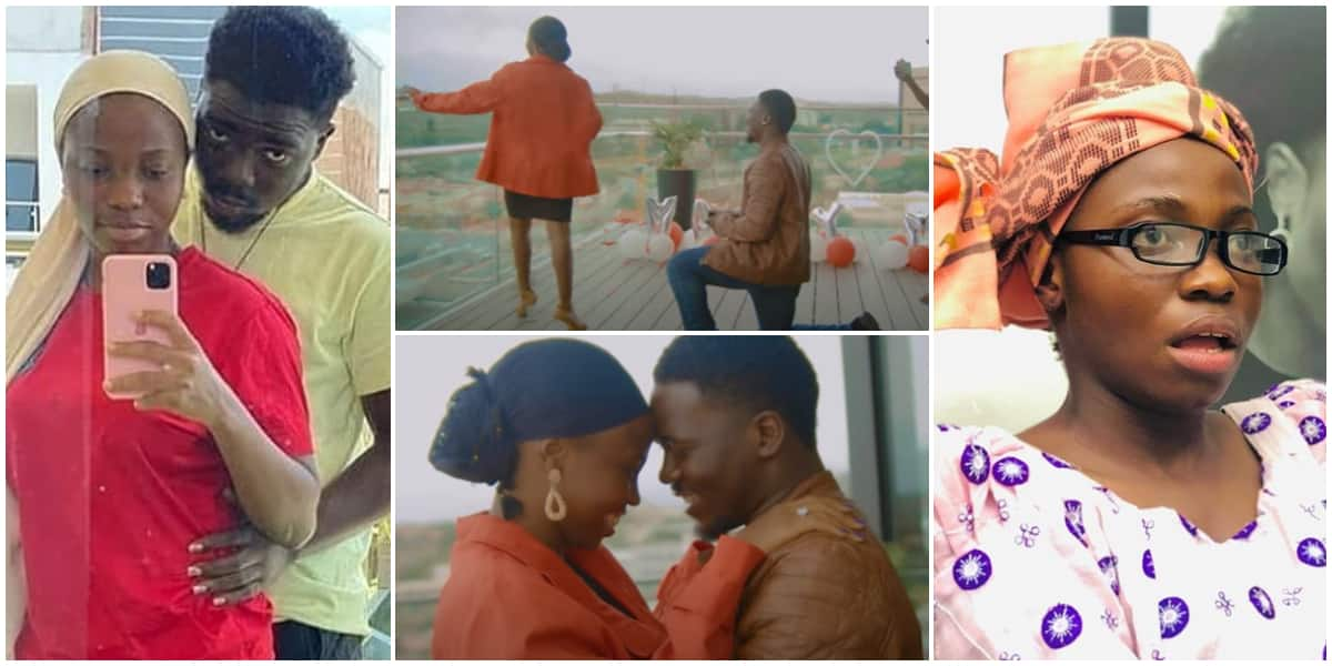 Comedian Taaooma sweet shares video of lover proposing to her in Namibia