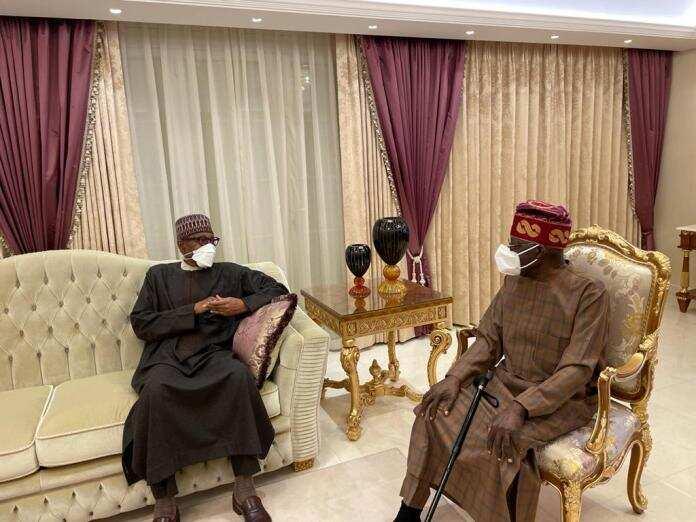Shugaba Buhari ya kai wa jagoran APC, Bola Tinubu ziyara har gidansa Landan
