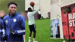 Super Eagles star shows off good basketball skills during training at his Premier League club