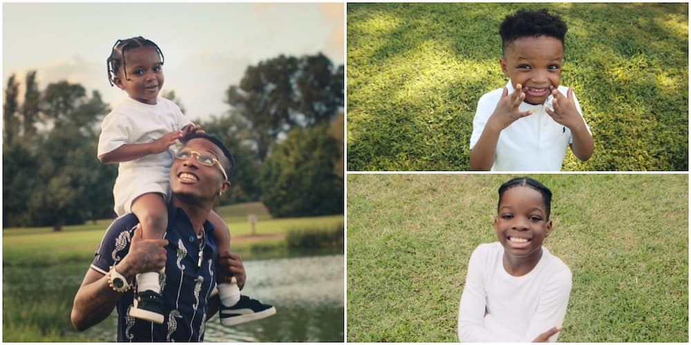 Wizkid features his three kids in official music video for Smile