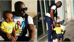 Jim Iyke shares funny video, says his son tried to run away from home after tasting freedom from quarantine