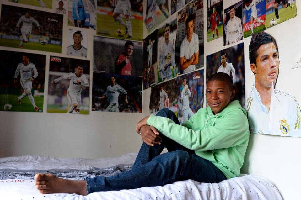 Kylian Mbappe replaces posters of Ronaldo in his room with photos of himself