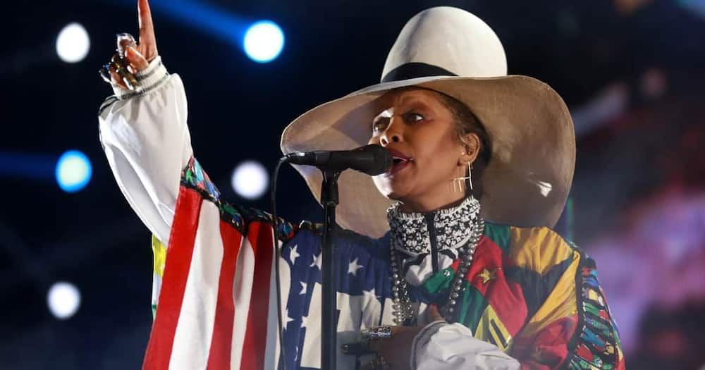 Erykah Badu attended Obama's 60th birthday party, and she apologised for recording it. Photo: Getty Images.