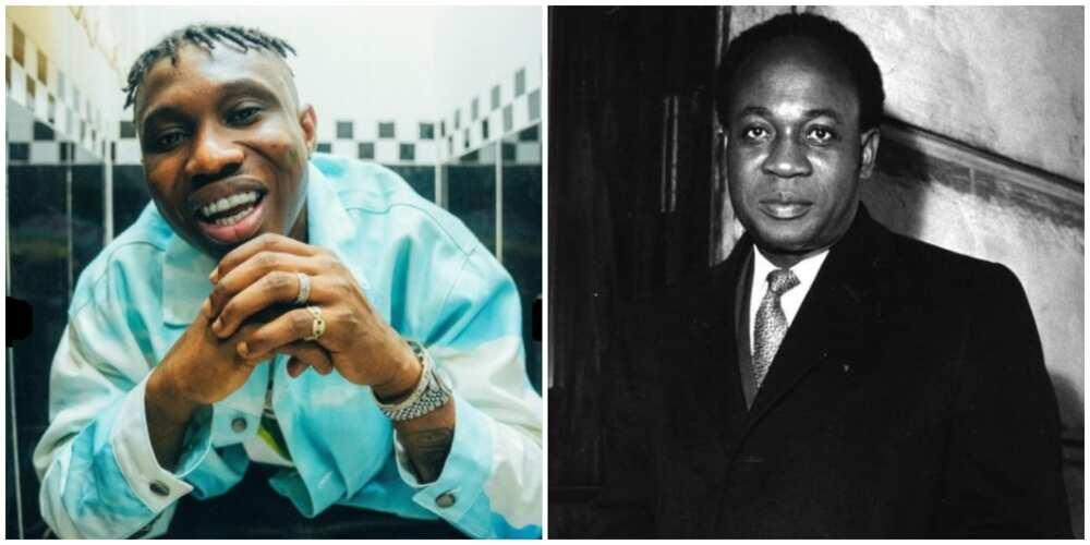 Zlatan Ibile tattoos Ghana's ex-president Kwame Nkrumah on his chest