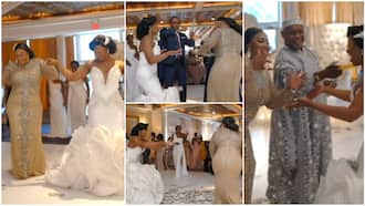 Bride and her mother take over dancefloor on wedding day, people spray them dollars in trending video