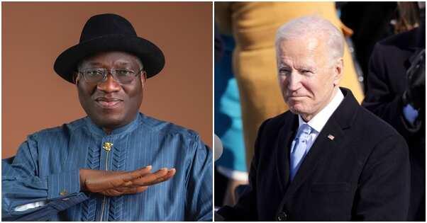 Goodluck Jonathan congratulates Biden and Kamila on inauguration