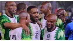 Fans storm stadium to watch Super Eagles legends Okocha, West, others reunite against Governor Makinde's team