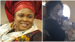 Crew members sing happy birthday to former first lady Patience Jonathan (video)
