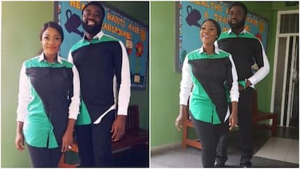 Mercy Johnson and her hubby steal hearts as they step out in matching outfits (photos)