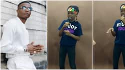 Lion no dey born goat - Fans react as Wizkid's son Tife shows rap skill in new video