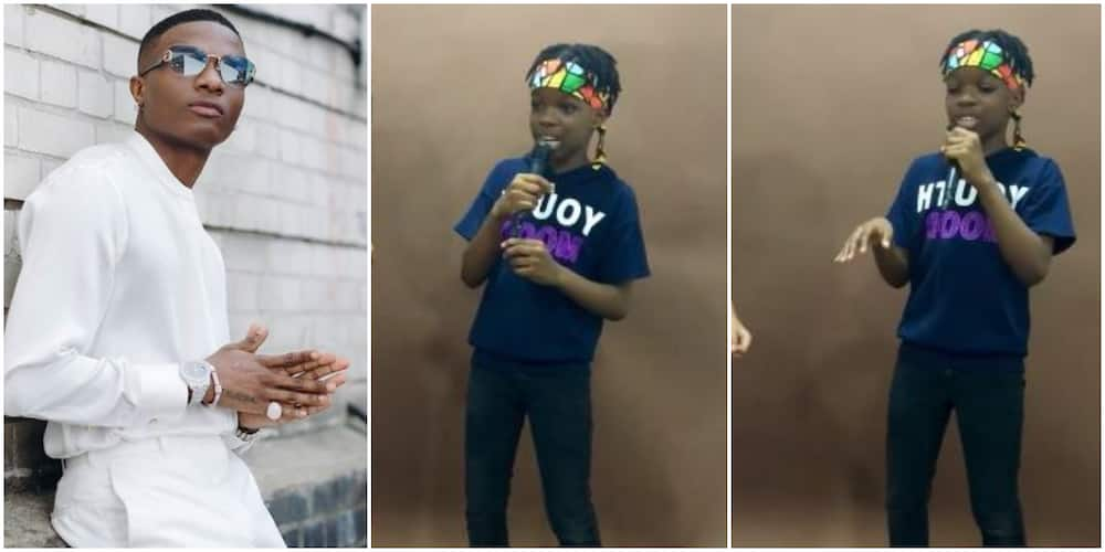 Wizkid's son Tife wows fans with impressive rap skill in new video