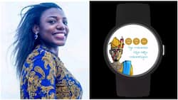 Nigerian Moyinoluwa becomes famous, builds android watch that tells time in Yoruba (photos)