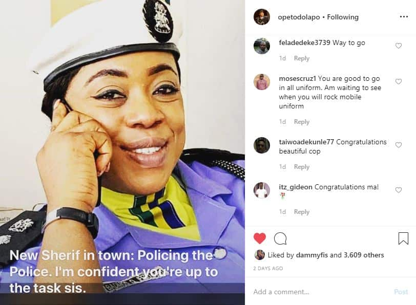 Beautiful former zonal police PRO Dolapo Badmus promoted to provost, headgear changes