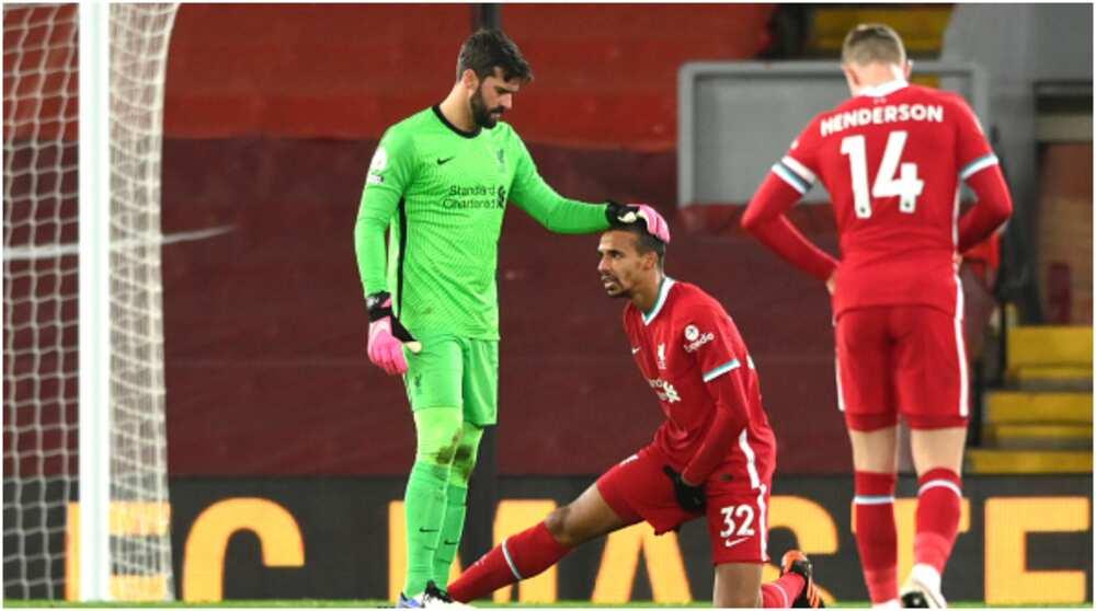 Joel Matip: Liverpool boss Klopp confirms defender to miss three weeks with groin injury
