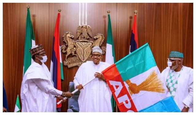 APC caretaker boss, Buni, Buhari and Governor Akeredolu