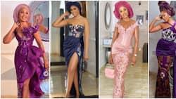 Asoebi fashion: 10 times Sharon Ooja was the perfect wedding guest in stunning outfits