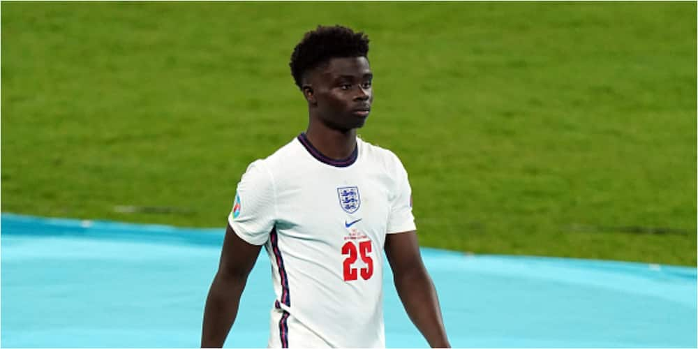 England-born Nigerian star Saka speaks for 1st after missing decisive penalty against Italy