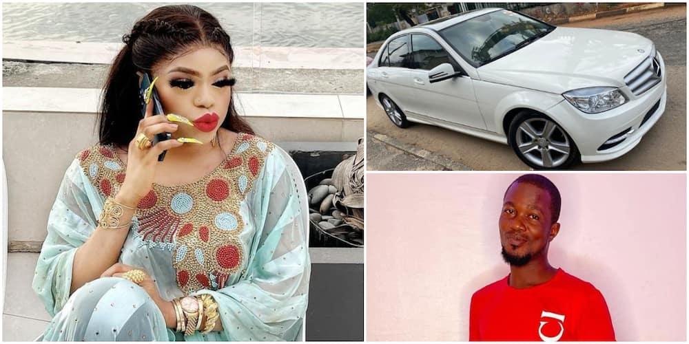 Amid Allegations of Abuse, Bobrisky Buys Mercedes Benz for Male Fan Who Got His Tattoo Weeks Ago