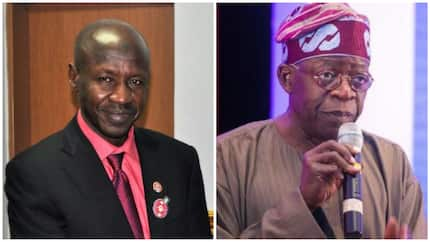 Write a petition if you want EFCC to probe Tinubu - Magu tells journalist