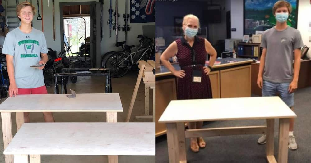 Teen adds a little goodness in the world, builds desks for needy kids