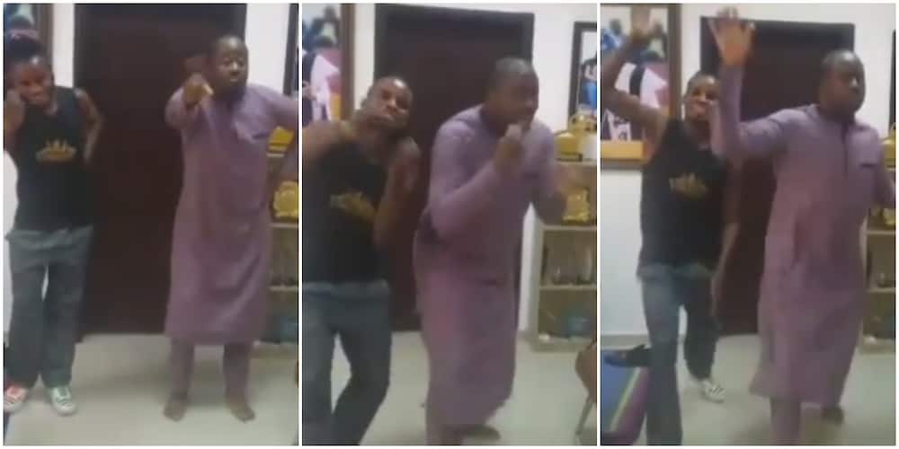 One Day I'll Get It: Hilarious Reactions As Desmond Elliot Learns Palliative Dance and Other Trending Styles