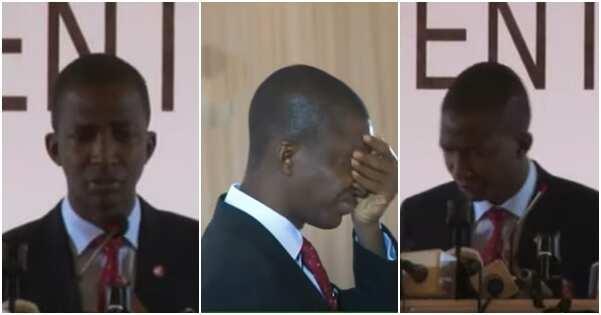 Video captures moment Bawa felt dizzy during speech in Abuja
