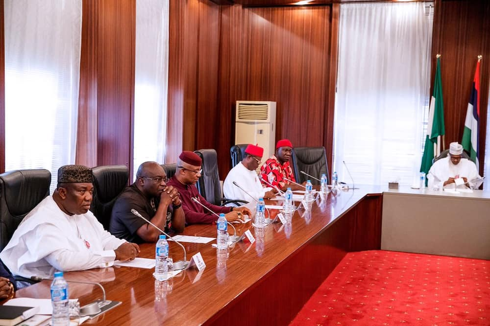 President Buhari meets with some southeast governors and stakeholders