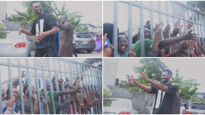 Screaming crowd welcomes evicted BBN housemate Yousef, he entertains them with signature dance steps