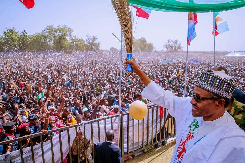Elections 2019: Thousands troop out in Katsina for Buhari