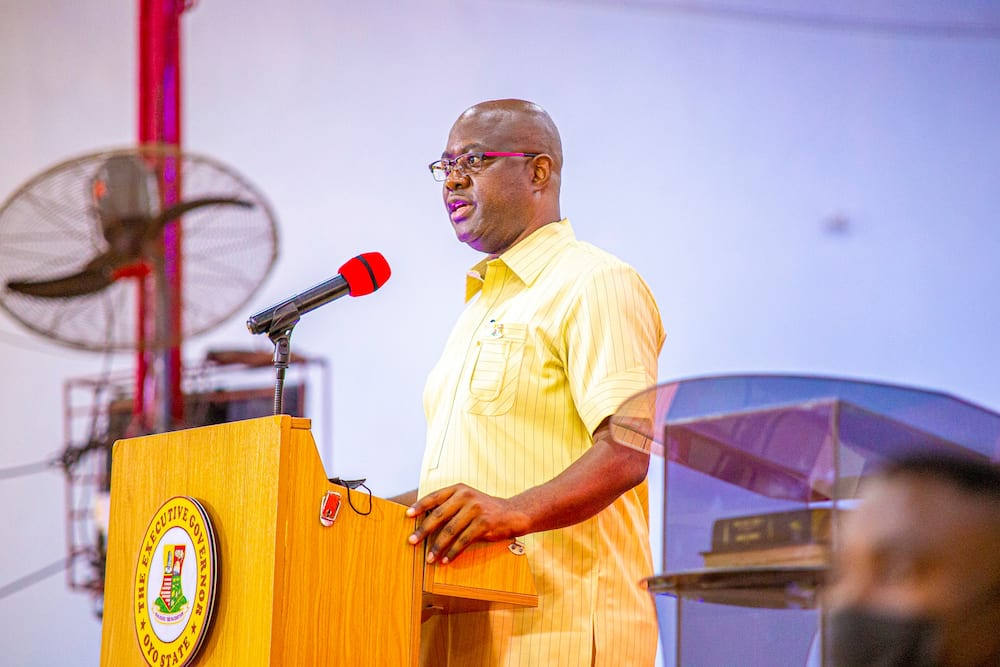Governor Makinde speaking in Ibadan on Sunday, August 8