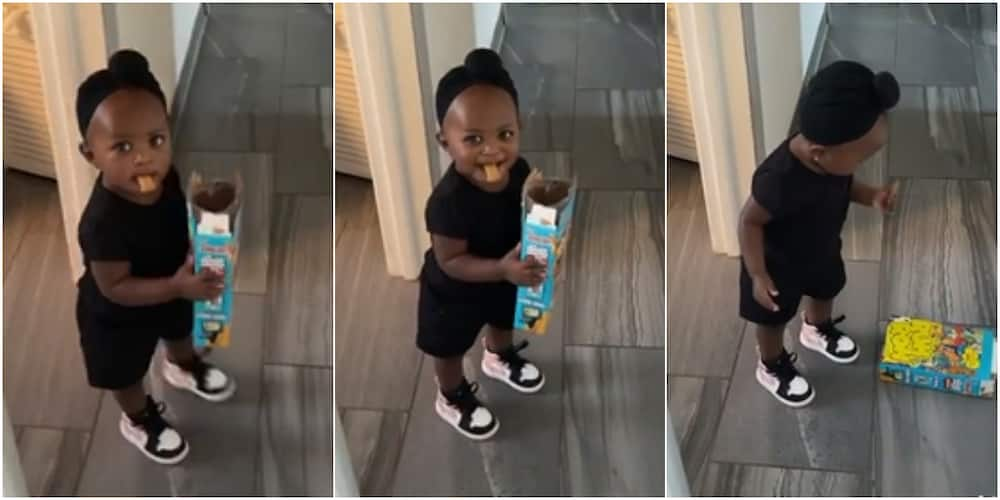 """The little girl was caught """"stealing"""" cereal"""