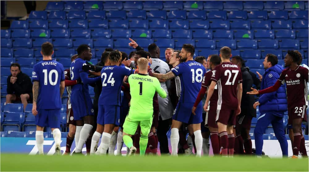 Champions League Fears As Chelsea Receive Heavy Fine After Brawl With Leicester Amid Fears of Points Deduction