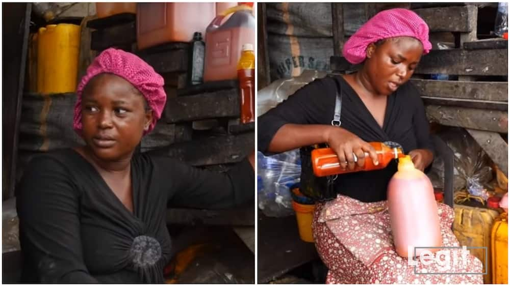 Palm-oil is one item in the market whose price continues to rise beyond sellers expectation. Photo credit: Esther Odili