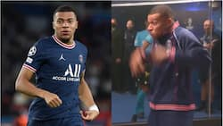 PSG star Mbappe makes intimidating gesture to RB Leipzig players before their Champions League clash