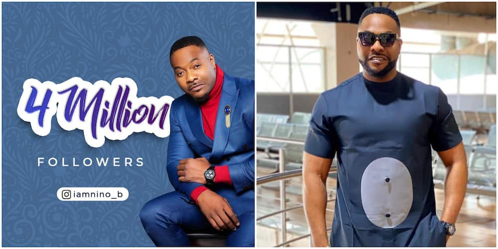 Nollywood Actor Bolanle Ninalowo Excited as He Hits 4 Million Followers on Instagram