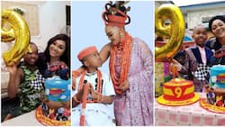 Checkout lovely photos of Mercy Aigbe's son Juwon as he clocks 9