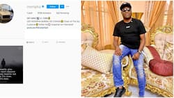 Ghost mode: Mompha deletes all his Instagram photos leaving single motivational post
