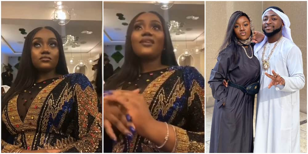 Chioma Gives Funny Look As Davido's Cousin Speaks at Her Birthday, Says They Should Remember Friendship, Son