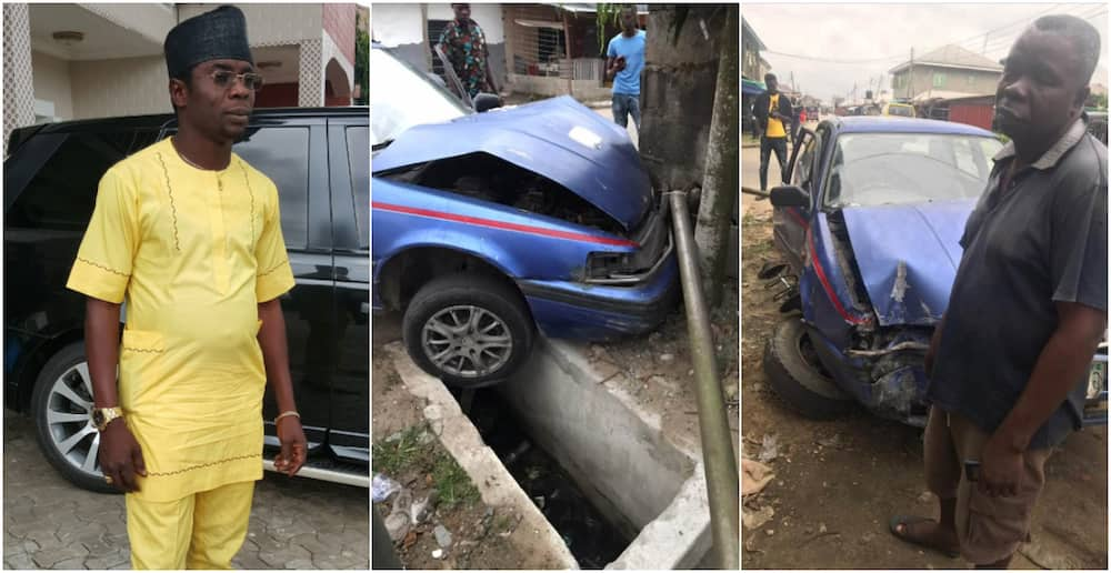 Man gifts cab driver who crashed into his fence N50,000