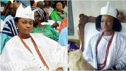 Regent Taiwo Oyebola Agbona always dresses like a King, she rules Aaye Town in Ondo (photos)