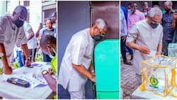 Lagos LG poll: Photos emerge from polling unit as Gbajabiamila casts his vote