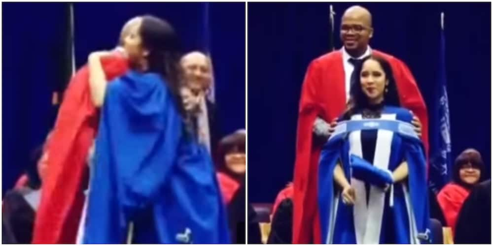 Couple Share Memorable Moment as Dr Husband Honours Wife With Her PhD Cords