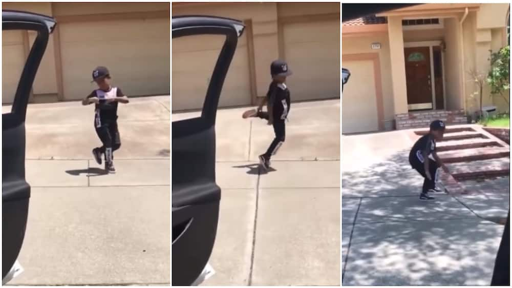 Boy dances to this popular song, many praise his cool moves