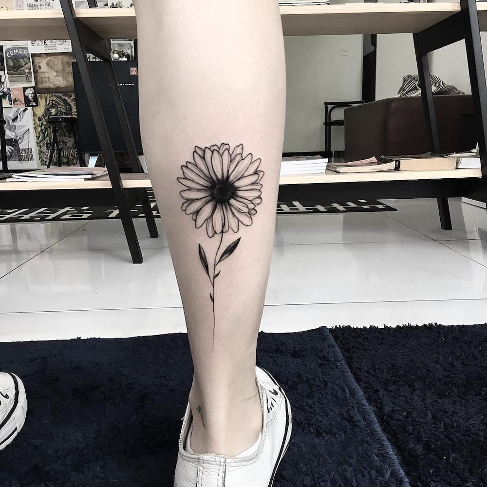 Carpe Diem Tattoo Ankle sunflower tattoo: meaning and top 50 designs ▷ legit.ng